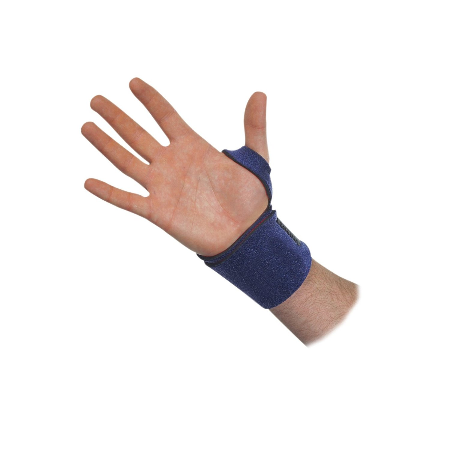 Trainer S Choice Compression Wrist Wrap Blue One Size